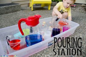 Pour Water Station by Busy Toddler