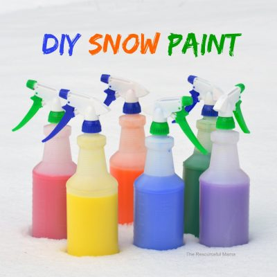 Painting the Snow – Fun Winter Activity