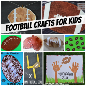 Fun and easy football crafts for kids.