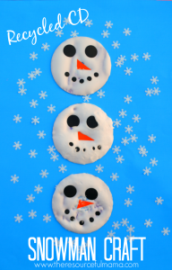 Re-purpose old CDs with this snowman kid craft