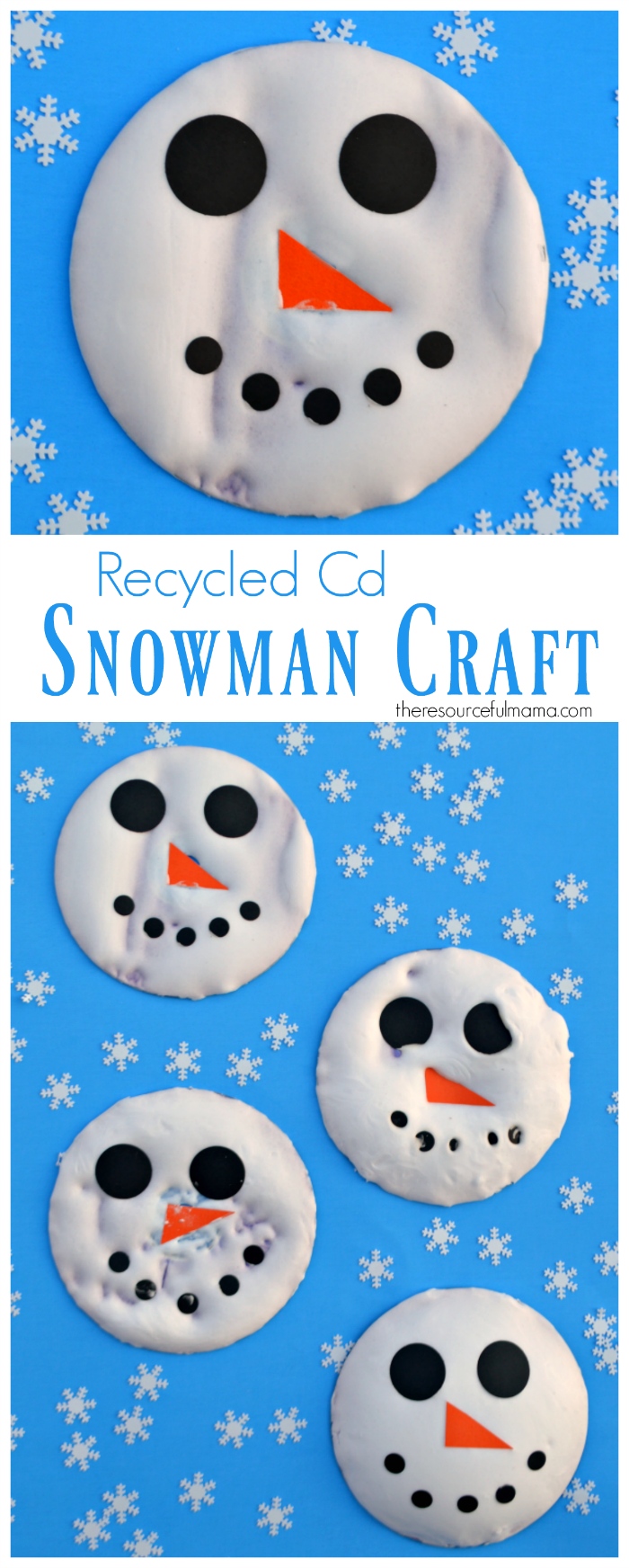 Snowman kid craft for winter