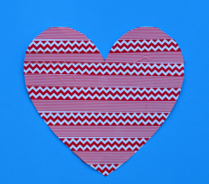 Washi tape heart Valentine's Day craft for kids