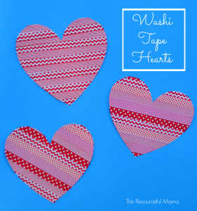 Washi Tape Hearts {Valentines Day Craft}