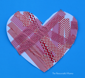 washi tape heart preschool