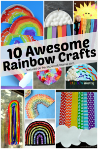 Rainbow crafts for kids perfect for spring and summer or St. Patrick's Day