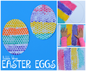 bubble wrap easter eggs sqaure collage