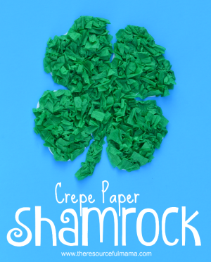 Crepe Paper Shamrock St. Patrick's Day Kid Craft