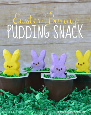 Bunny Pudding Easter Snack