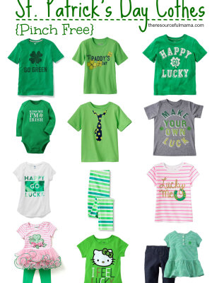 Pinch Free St. Patrick's Day Clothes for Kids