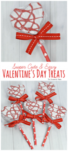 You can have super cute and easy Valentine's Day treats your child's Valentine's Day parties in no time with these heart cakes.