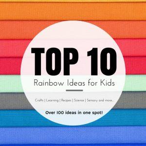 top ten rainbow graphic