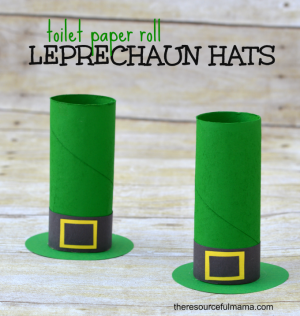 Toilet Paper Roll Leprechaun Hat Craft