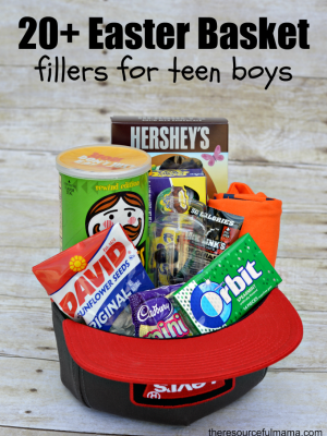 Teen Boy Easter Basket and 20+ Ways to Fill It