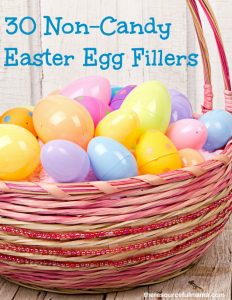 30 Easter egg fillers that are not candy, plus a bonus tip.