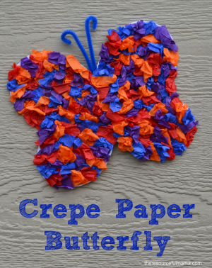 Crepe Paper Butterfly Craft for Kids