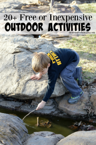 20+ free or inexpensive outdoor activities for kids this spring