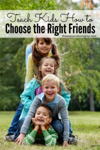 Great tool to help kids choose the right friends.