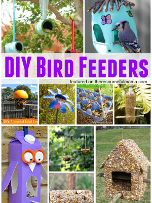 DIY Bird Feeders Made From Recycables