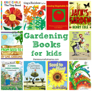 Great collection of beautifully illustrated gardening books for kids. Kids learn about gardening from seeds to plants to how they grown and produce vegetables and flowers.