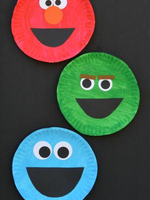 Paper Plate Sesame Street Craft