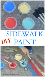 Turn leftover/broken pieces of chalk into sidewalk chalk paint for kids. summer| kids activities | spring | preschool | outdoor activity