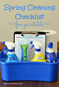 Free printable spring cleaning checklist, detailed room by room cleaning tasks