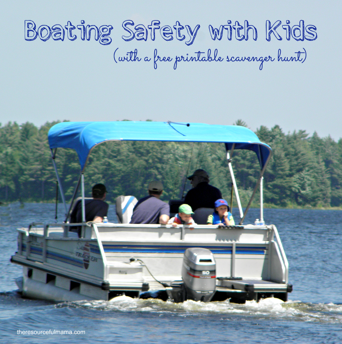 Great tips to teach and enforce boating safety with kids this summer. The free printable boating scavenger offers a fun hands on way for kids to learn about the boat and items associated with boating.