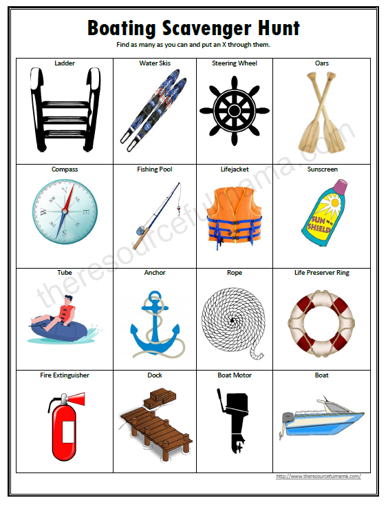This free printable boating scavenger offers a fun hands on way for kids to learn about the boat and items associated with boating this summer.
