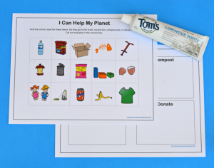 Continue Earth Day learning all year with this printable worksheet that teaches kids about recycling, reusing, and reducing.