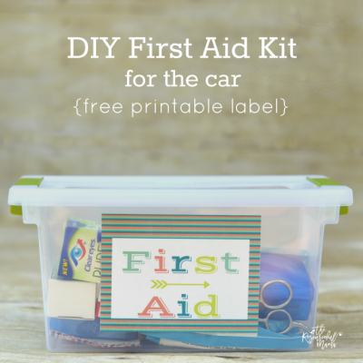 DIY First Aid Kit for the Car