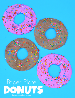 Paper Plate Doughnut Craft