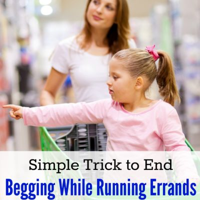 Simple Trick to Stop Begging While Running Errands