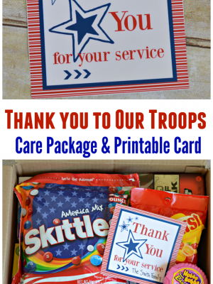 Say Thank You to Our Troops with a Care Package and Card