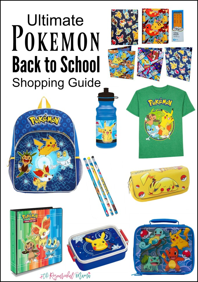 Your Pokemon fan will love going back to school with this Pokemon themed school supplies from backpacks to shirts to pencils and more.