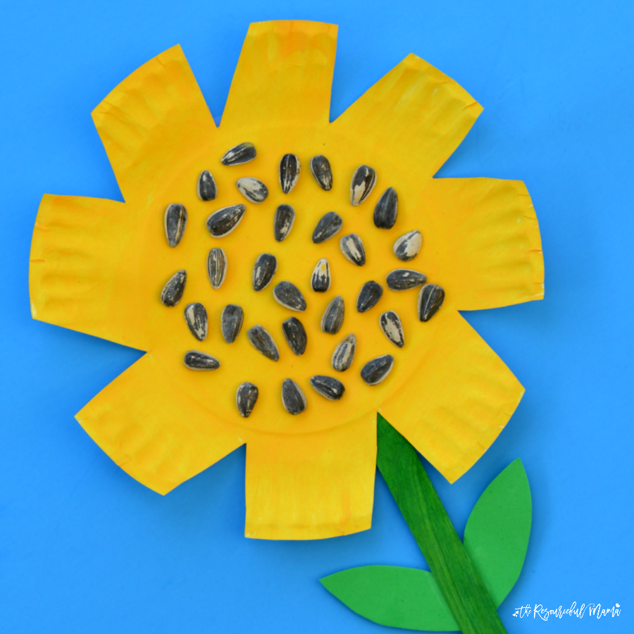 Paper plate sunflower craft the resourceful mama for Paper plate craft images