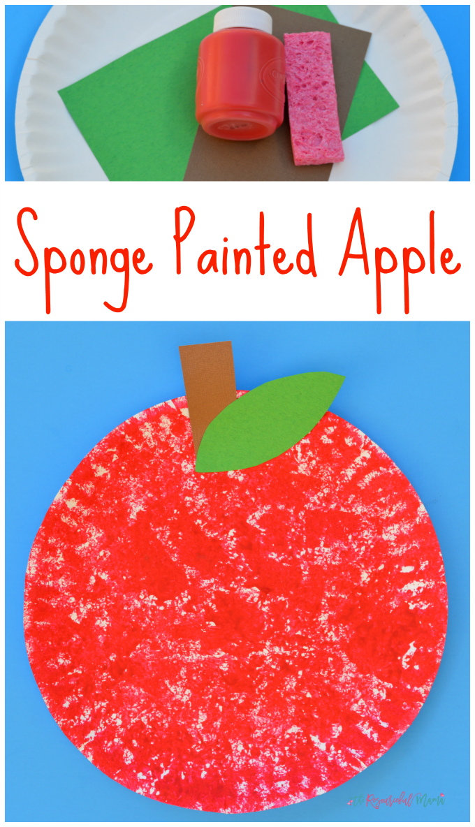 sponge painted apple long collage 2