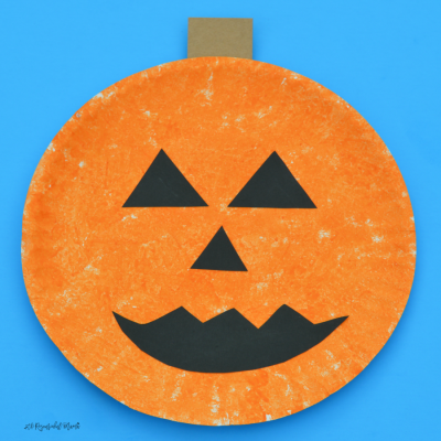 Sponge Painted Pumpkin Craft