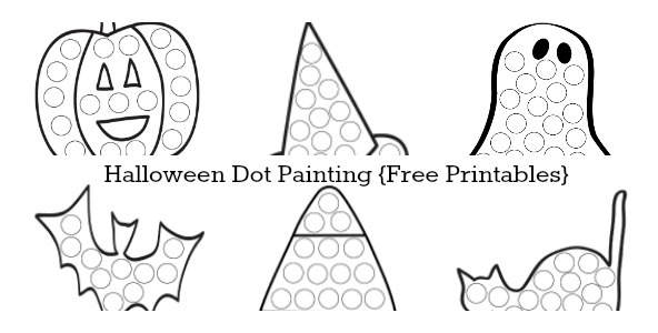 Halloween Dot Painting {Free Printables}