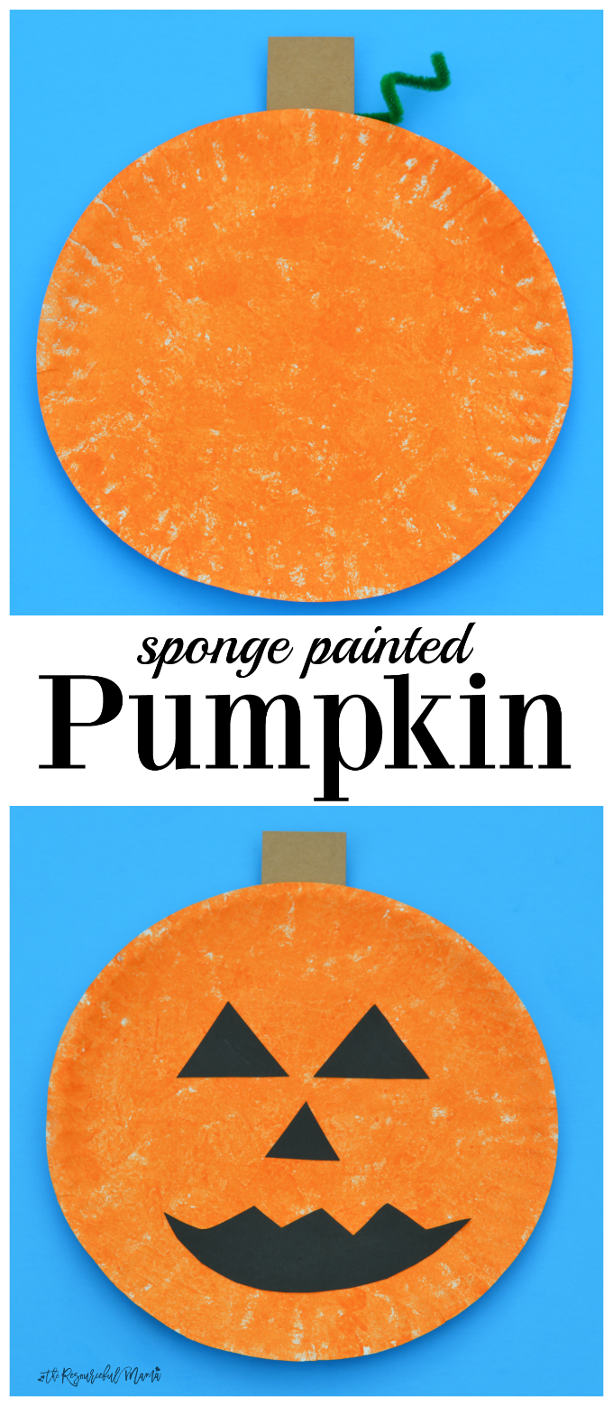 With just a few basic supplies and easy to follow directions, this is an easy, inexpensive, and fun pumpkin craft for fall, Halloween or Thanksgiving. Easily transforms into a jack o' lantern.