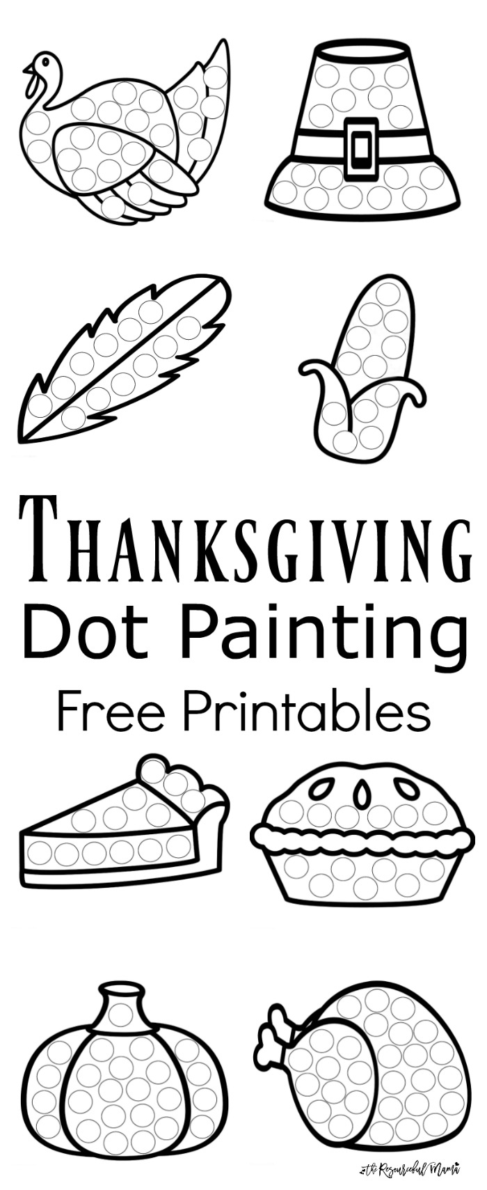Thanksgiving Dot Painting Free Printables on Native American Worksheets For First Grade