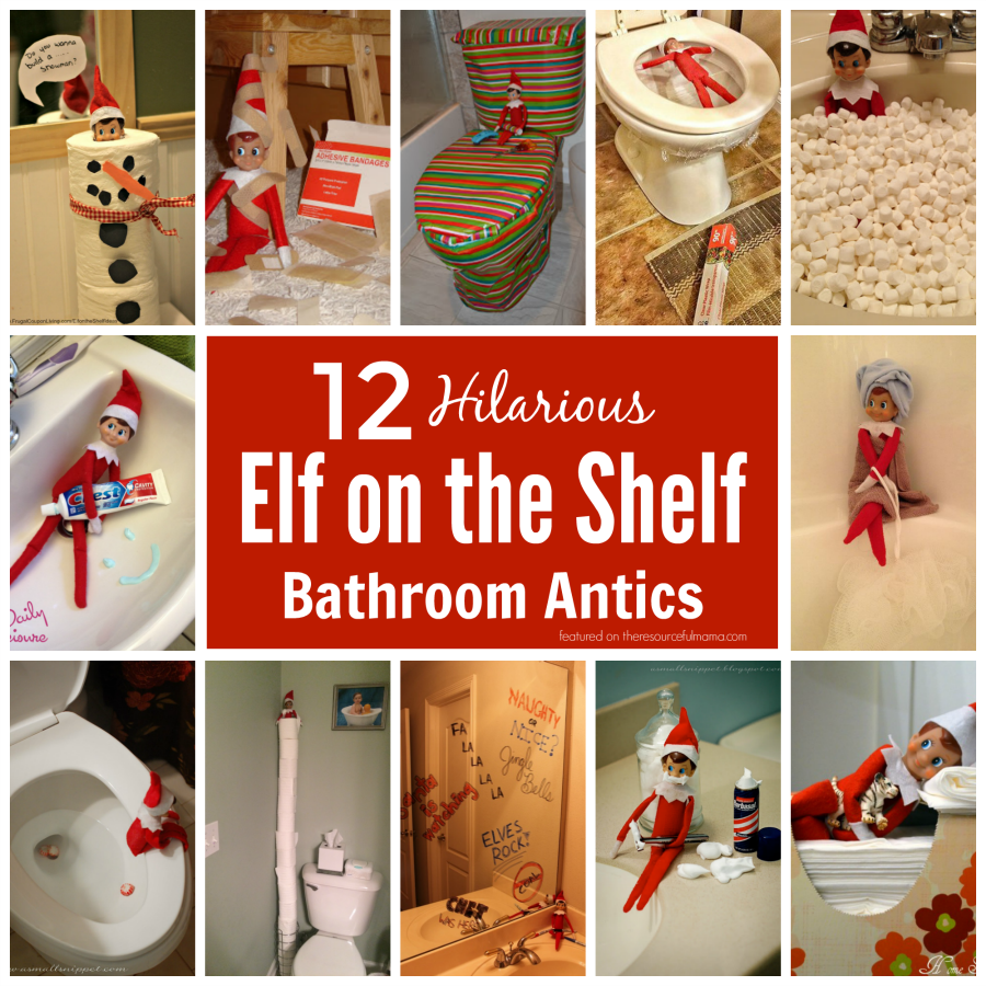 Hilarious and fun elf on the shelf bathroom ideas for Elf on the shelf bathroom ideas
