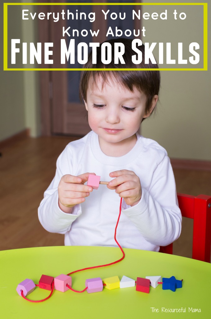 Fine motor skills explained and resources for further information.