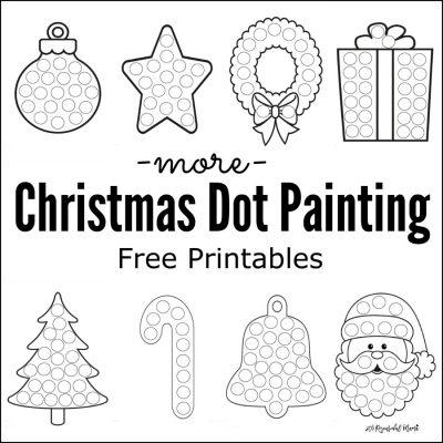More Christmas Dot Painting {Free Printables}