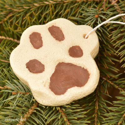Salt Dough Pet Paw Print Ornament