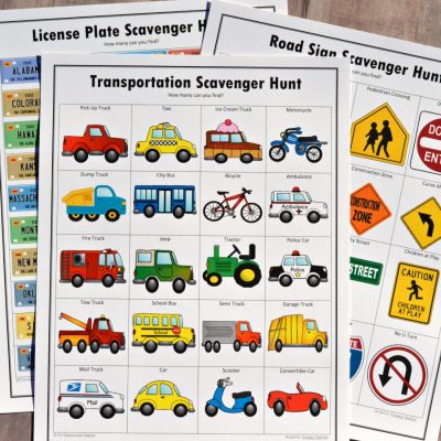 Road Trip Scavenger Hunts {Free Printables}