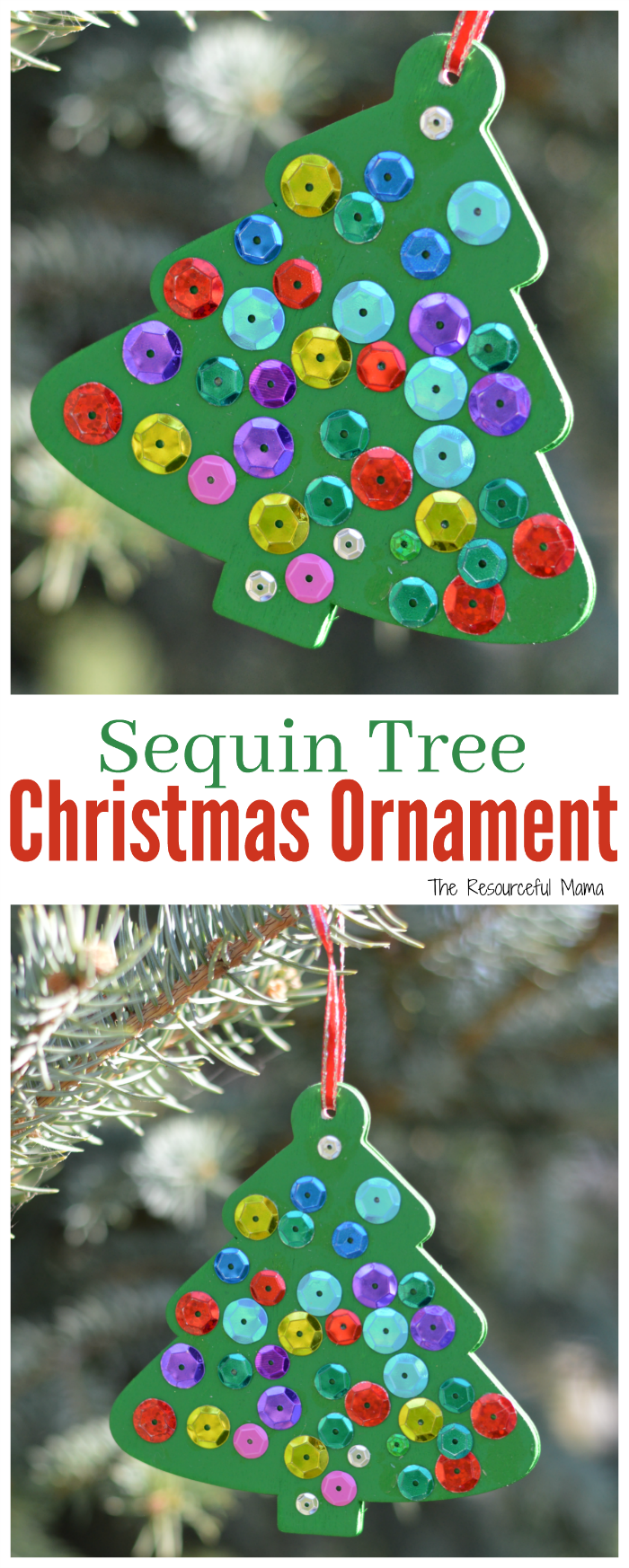 Add some shine to your Christmas tree with this simple wooden kid made tree ornament.