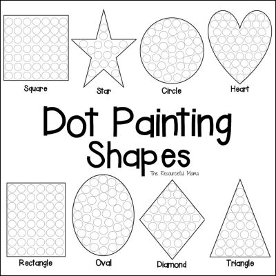 Shapes Dot Painting {Free Printable}