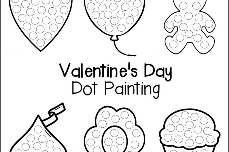 Valentine's Day Dot Painting