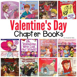 Valentine's Day chapter books full of laughs, adventure, and mystery for your grade school aged kids. These Easy to read Valentine's Day chapter books will get even the most reluctant readers reading and loving it.