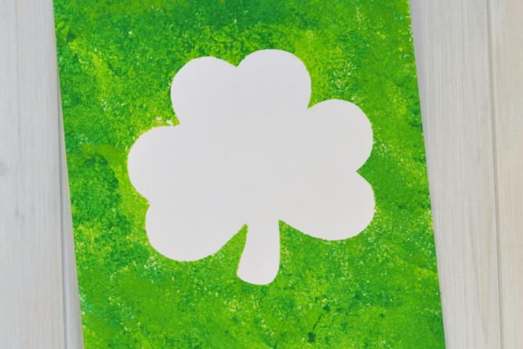 St. Patrick's Day Shamrock Art Project